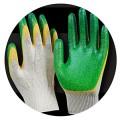 Перчатки с двойным обливом Стандарт зеленые