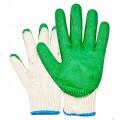 Перчатки с одинарным обливом зеленые