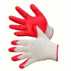 Перчатки с одинарным обливом красные