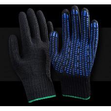 Рабочие перчатки ХБ 7,5 класс 5 нитей Супер Люкс Протектор черная