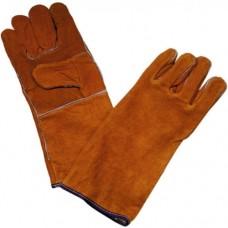 Перчатки краги коричневые