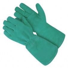 Перчатки краги зеленые