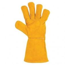 Перчатки краги желтые