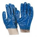 Перчатки-манжета с нитрилом синие
