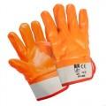Перчатки с нитриловым покрытием оранжевые