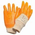 Перчатки с частичным покрытием оранжевые