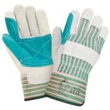 Перчатки спилковые серо-голубые
